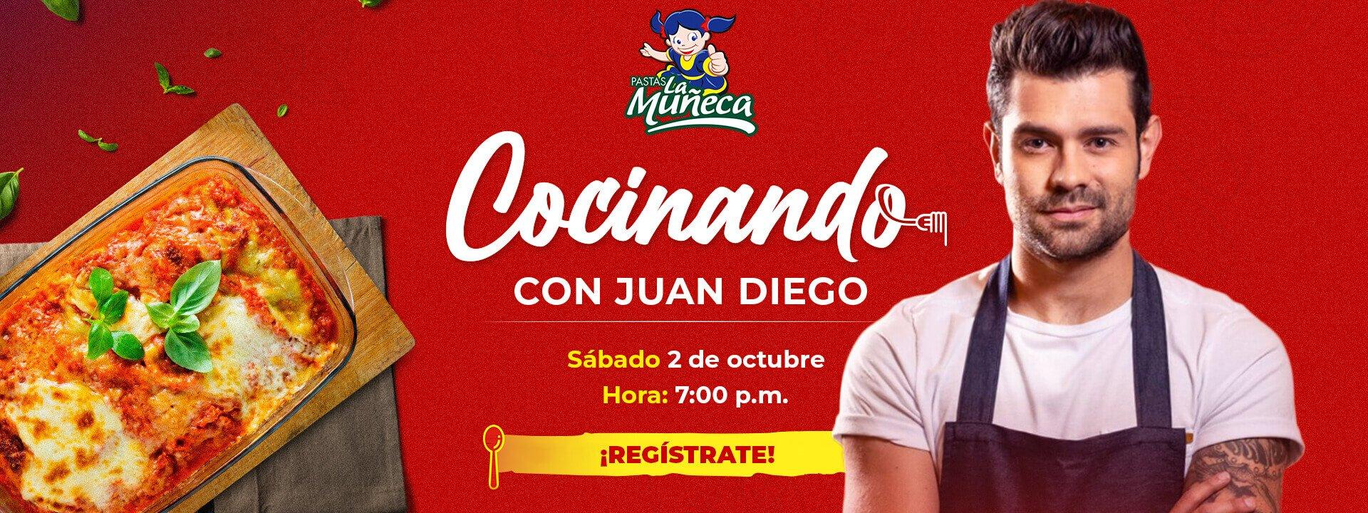 Cocinando con Juan Diego ¡Regístrate!