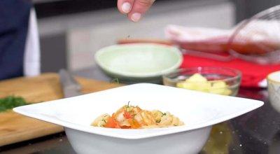 Receta-Conchas-con-salsa-de-camarones-con-Pastas-La-Muñeca