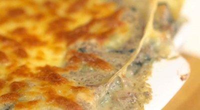 Receta-Lasaña-de-pollo-champiñones-y-espinaca-con-Pastas-La-Muñeca